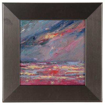 Rebecca Manns Impasto Oil Palette Knife Painting, 2021