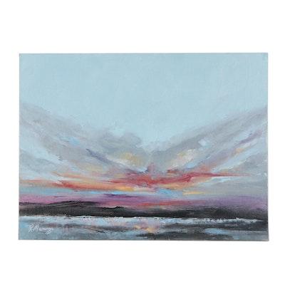 "Rebecca Manns Oil Finger Painting ""Updrafts and Crosswinds,"" 2021"