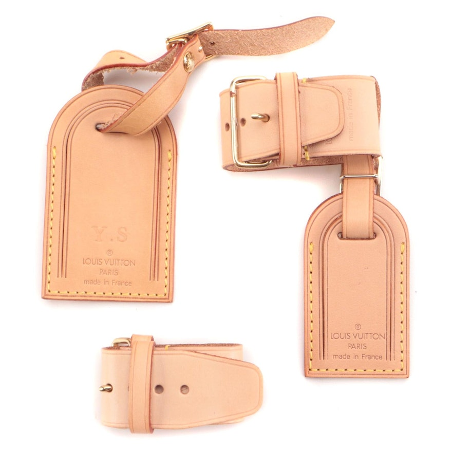 Louis Vuitton Luggage Tags and Poignet in Vachetta Leather