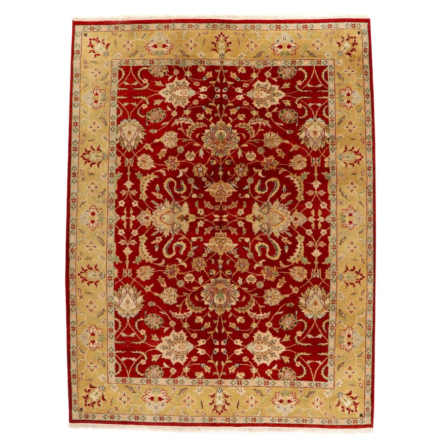 8'11 x 12'2 Hand-Knotted Indian Mahal Room Sized Rug