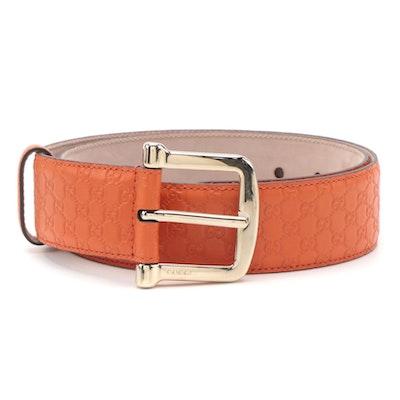 Gucci Orange Microguccissima Leather Belt