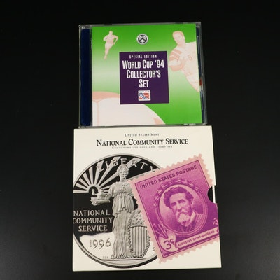 World Cup and National Community Service Commemorative Silver Dollar Sets