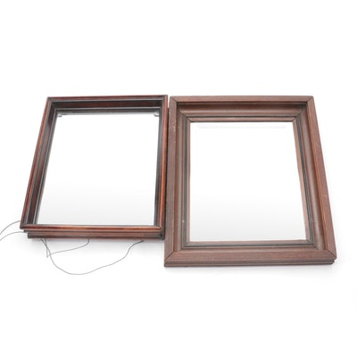 American Empire Walnut Framed Wall Mirrors, Mid-19th Century