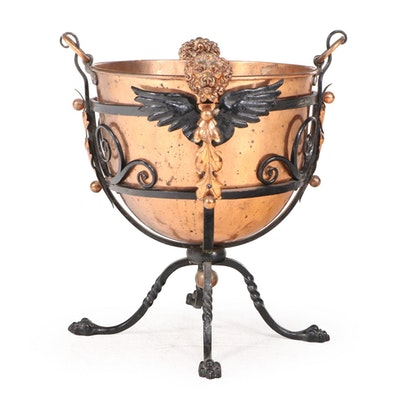 Jans of London Copper and Metal Clawfoot Planter