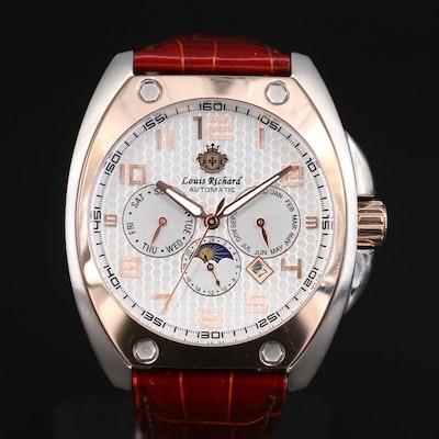 Louis Richard Triple Calendar Two Tone Automatic Wristwatch