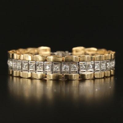 14K and Platinum 3.06 CTW Diamond Bracelet