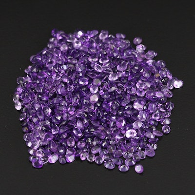 Loose 134.22 CTW Oval Faceted Amethysts