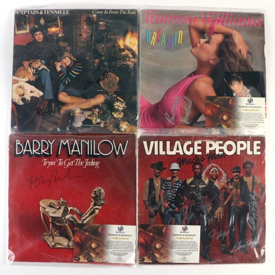 Vanessa Williams, Village People and Other Autographed Records with COAs