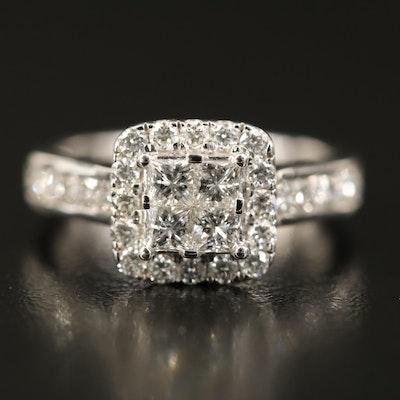 14K 1.50 CTW Diamond Halo Ring