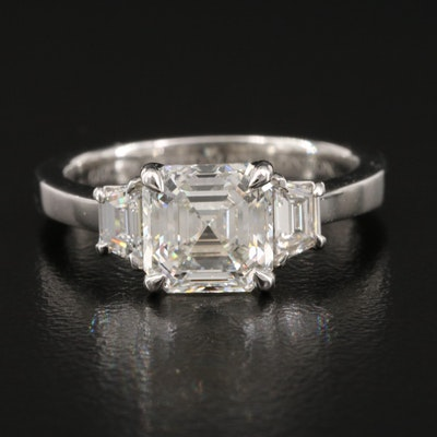 Platinum 2.41 CTW Diamond Ring with GIA Report