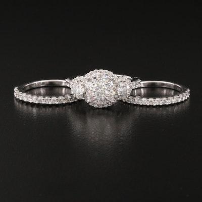 14K 2.60 CTW Diamond Ring Set