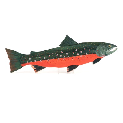 Hand-Painted Brook Trout Wall Décor