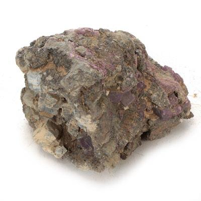 Raw Purple Edge Fluorite Clusters