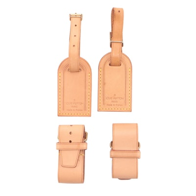 Louis Vuitton Mini Luggage Tags with Poignets in Vachetta Leather