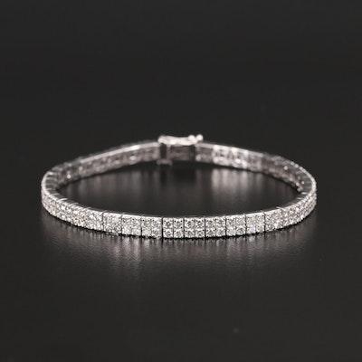 14K 5.04 CTW Diamond Tennis Bracelet