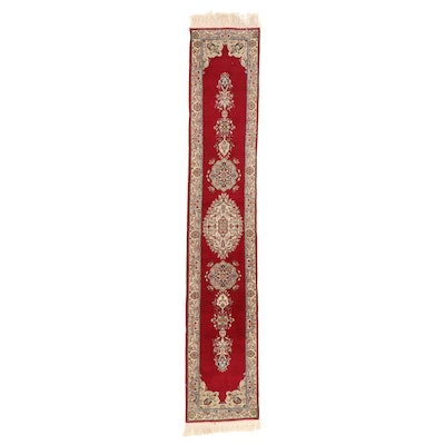2' x 12'3 Hand-Knotted Indo-Persian Kerman Carpet Runner