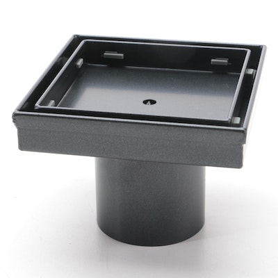 Tile-In Shower Drain and Matte Black Stainless Shower Drains