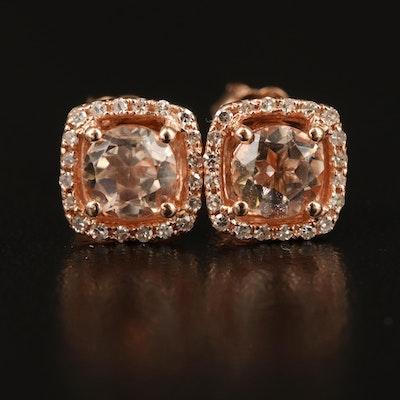 EFFY 14K Morganite and Diamond Earrings