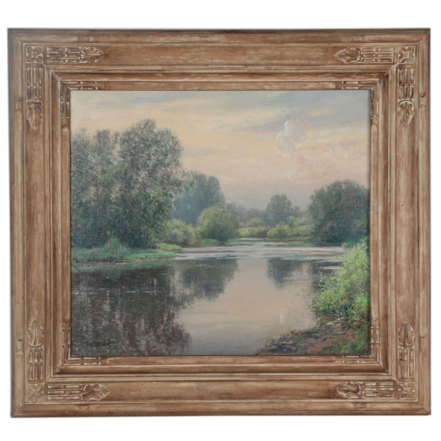 Wilson Irvine American Impressionist Landscape Oil Painting, Early 20th Century