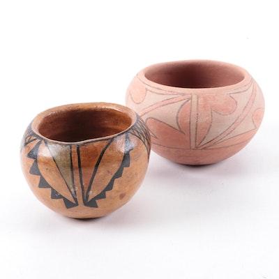 Helen Garcia Sandia Pueblo Jar and Southwestern Polychrome Jar