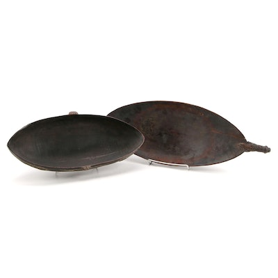 Jassi Island and New Guinea Hand-Carved Wood Food Bowls