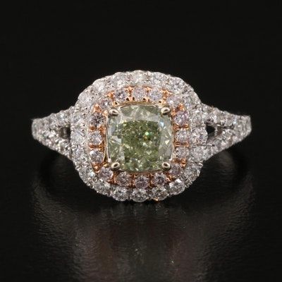 18K 1.78 CTW Diamond Ring with GIA Report