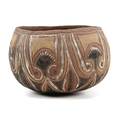 Abelam Polychrome Earthenware Bowl, Papua New Guinea