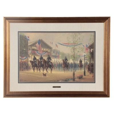 """G. Harvey Offset Lithograph """"Moment of Glory,"""" Late 20th Century"""