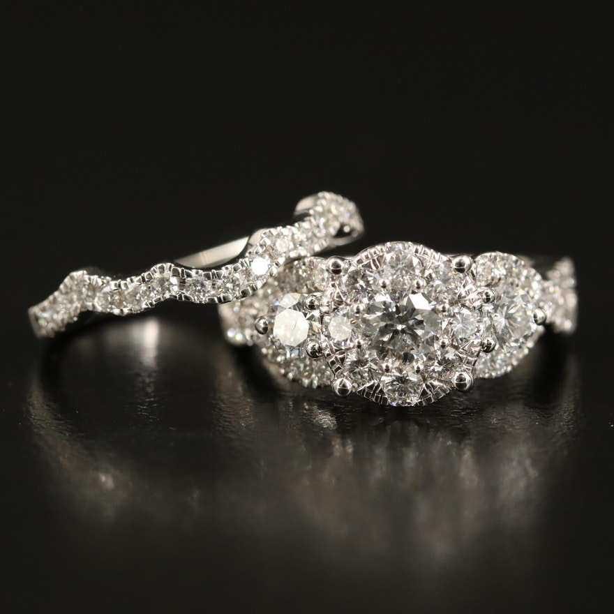 14K 2.09 CTW Diamond Ring Set