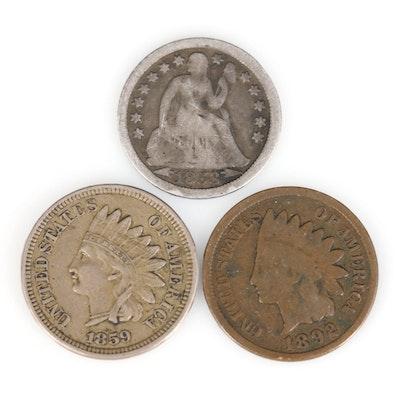 Three Antique U.S. Coins