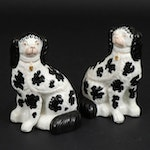Pair of Staffordshire Disraeli  Spaniels, Late 19th/Early 20th C.