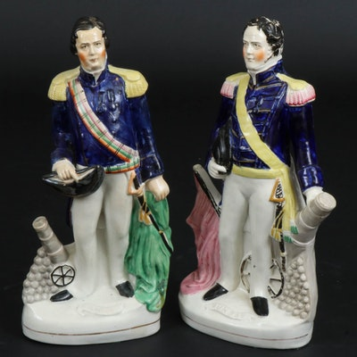 """Staffordshire """"Napier"""" and """"Dundee"""" Figurines, Mid-19th Century"""