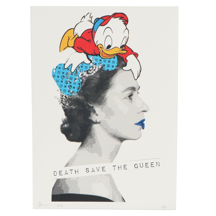 Death NYC Pop Art Graphic Print of the Queen, 2017