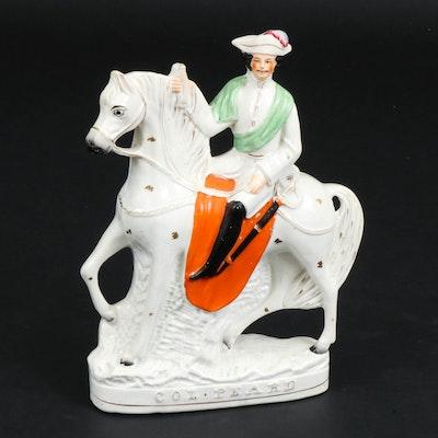 "Staffordshire Ceramic ""Col. Peard"" Figurine, Mid-19th Century"