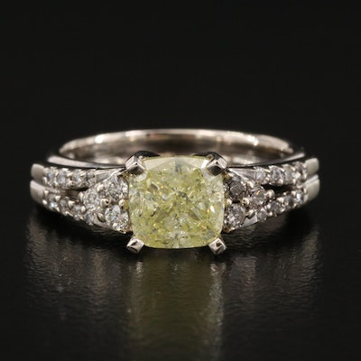 14K 2.11 CTW Colored Diamond Ring Set with GIA Colored Grading Report