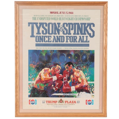 Tyson Vs. Spinks Offset Lithograph Poster after LeRoy Neiman, 1988