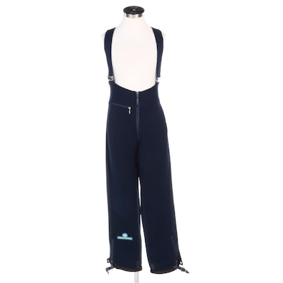 Holiday Navy Blue Ski Pants with Attached Suspenders