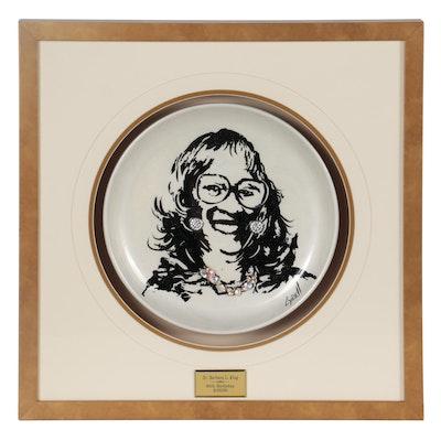 """Lydell Martin Designer Plate Portrait """"Dr. Barbara L. King"""""""