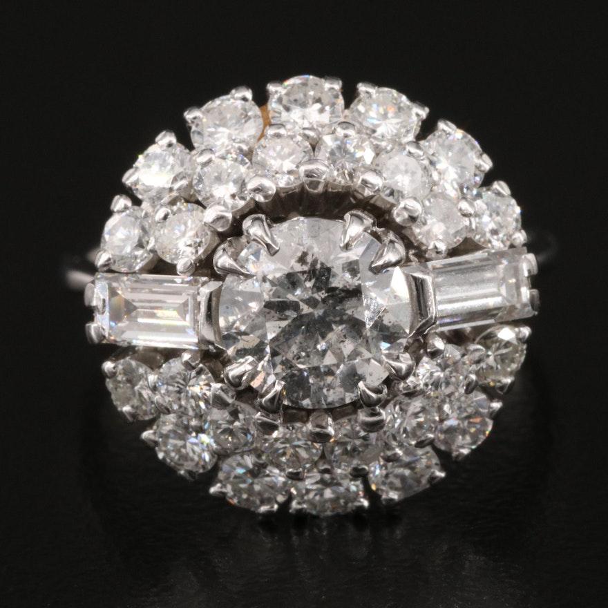 18K 2.64 CTW Diamond Cluster Ring