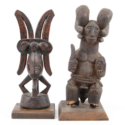 "Igbo ""Ikenga"" Hand-Carved Wood Figures, Nigeria"