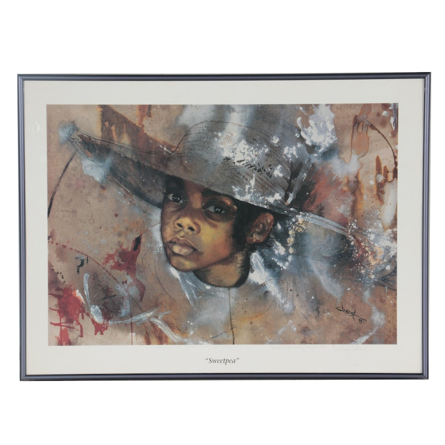 """Offset Lithograph """"Sweetpea,"""" 1994"""