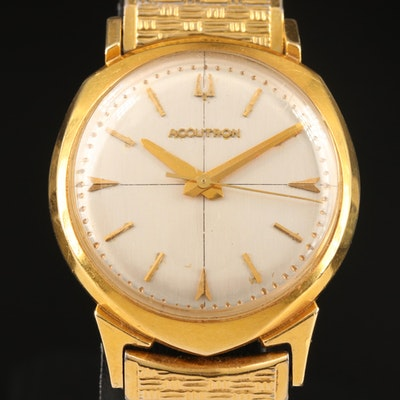 Bulova Accutron 14K Wristwatch with Gold-Filled and Stainless Steel Bracelet