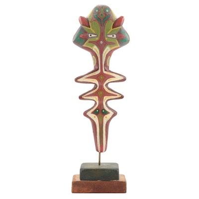 Robert Szesko Acrylic and Wood Sculpture, Late 20th Century