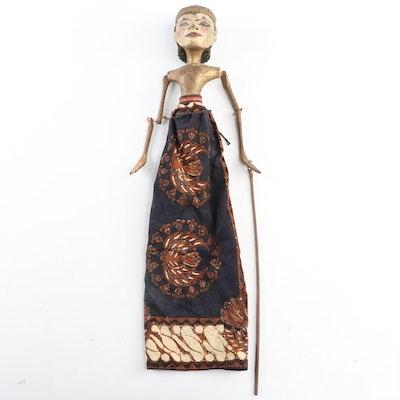 Indonesian Hand-Carved Wooden Wayang Golek Puppet