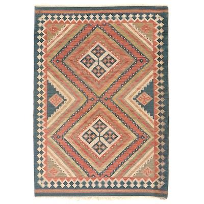 6'1 x 9' Handwoven Caucasian Shirvan Kilim Area Rug