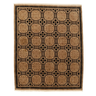 8'2 x 10'5 Hand-Knotted Tibetan Geometric Wool Area Rug