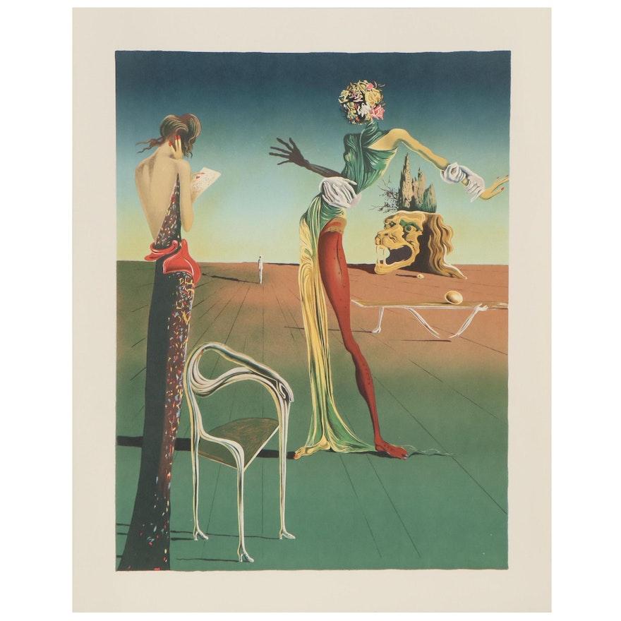 "Lithograph after Salvador Dalí ""Femme a Tete de Roses,"" Late 20th Century"
