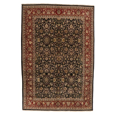 10' x 14'11 Hand-Knotted Indo-Persian Floral Room Sized Rug