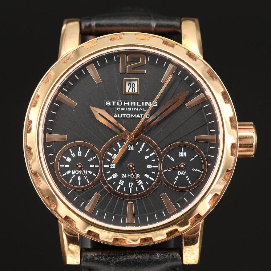 Stührling Louie 136 Rose Gold Tone Automatic Wristwatch