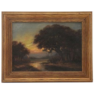"William Keith Oil Painting ""Elm Knob,"" circa 1885"